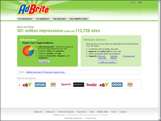 Система контекстной рекламы AdBrite.com