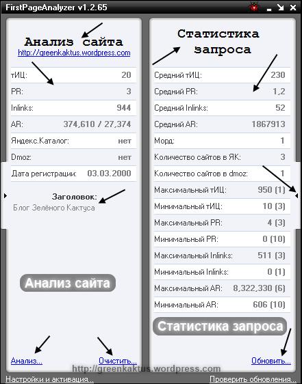 FirstPageAnalyzer: анализ сайта и статистика запроса