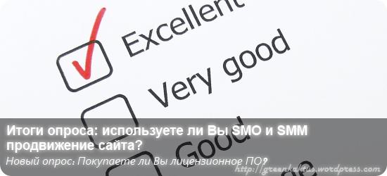 Итоги опроса: используете ли вы SMO и SMM продвижение сайта?