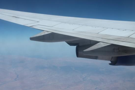 Над Кипром (летели с Трансаэро, они крутые)